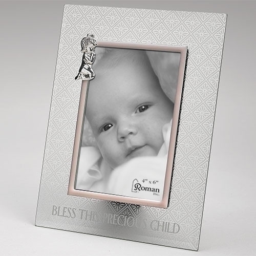 Precious Child Frame Praying Girl 4x6 Photo Frosted Glass 9