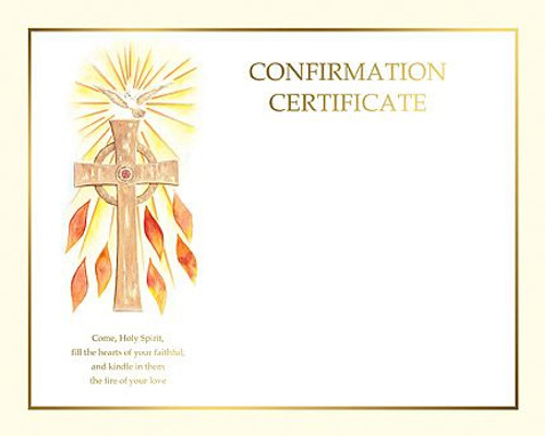 confirmation certificate create your own style bcxs114 f c
