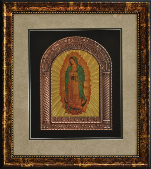 Sacred Heart of Jesus Halogram | Metal Frame with Wooden Frame ...