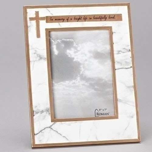 Memorial Frame | Marble Look with Copper Accents | 5"|500|500|?|en|2|87476de441e3786ad20ecf197de92433|False|UNLIKELY|0.3117980360984802
