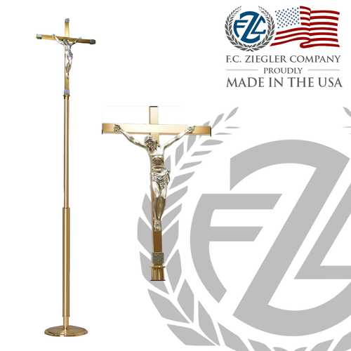 Processional Cross Modern Style: Processional Cross With Base
