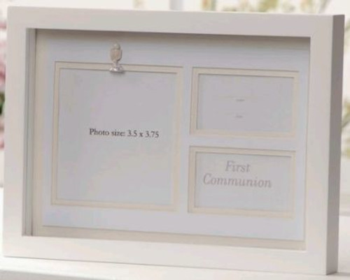 Blessed Sacrament   First Communion Photo Shadow Box   Ivory & White ...