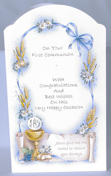 First communion greeting card arch shape with eucharist 4 x 6 first communion greeting card arch shape with eucharist 4 x 6 italy fc ziegler company m4hsunfo