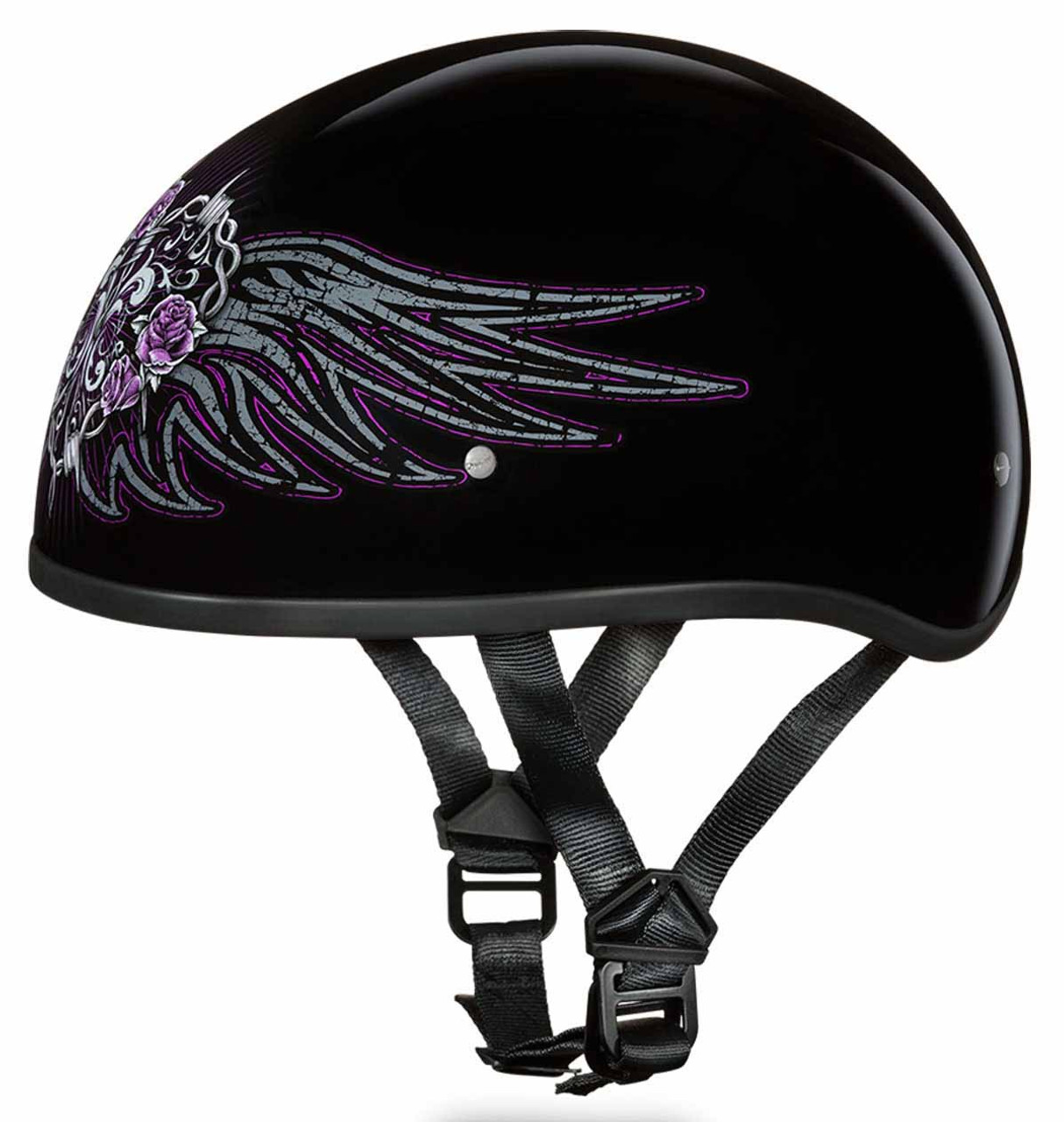 Helmet Rose And Barbed Wire Center Ammetervoltmetertransducer Meters Diagram Daytona Skull Cap Slim Line Heart Xtremehelmets Com Rh Roses Blog