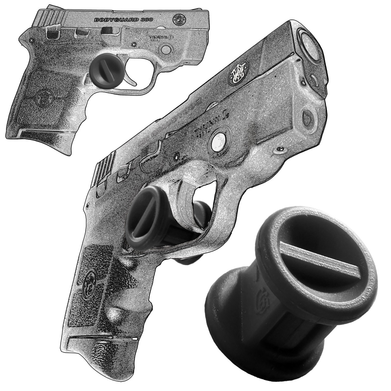 Trigger Stop Holster Fits Smith & Wesson Bodyguard 380 & M&P 380 Black s20