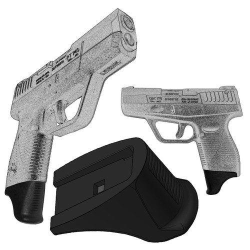 "1.25"" Grip Extension Extra Long Fits Taurus PT740 & PT709 Slim (XL)"