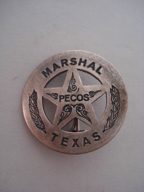 Texas Marshal Pecos Western Badge