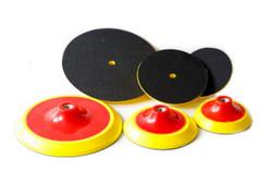 5 inch Red plastic Foam Backer pads
