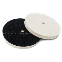 Wool and Velcro buffing pad  3 sizes
