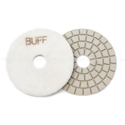 Premium Buff Diamond polishing pad- White