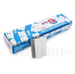 Razor Blades Single Edge 9 Steel Made in U.S.A Box of 100 Pieces