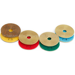 4 step  Diamond Polishing pads 4 inch