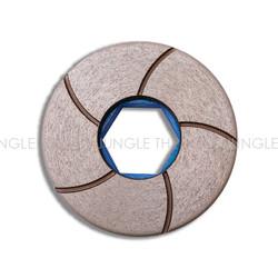 """5 """" Glossfire Flat Edge Copper Wheels"""