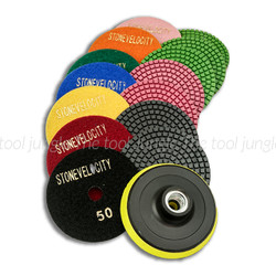4 inch Color Resin Diamond Polishing Pads Set with Backer
