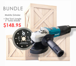 Makita bundle with free Turbo blade   (9565CVSJS5) Variable speed 5 inch