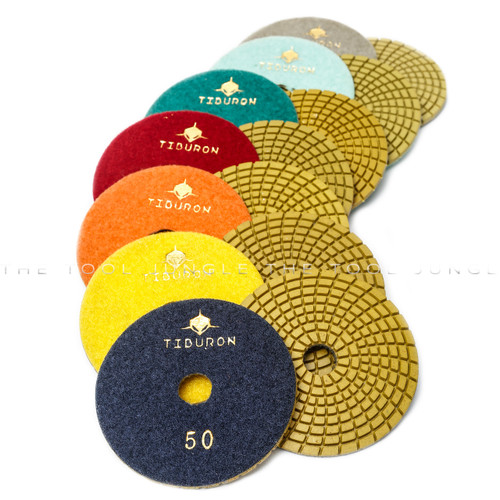 "Tiburon Spiral WET 4"" Polishing pads"