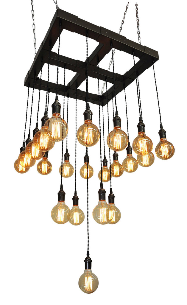 Metal Tiered Pendant Chandelier