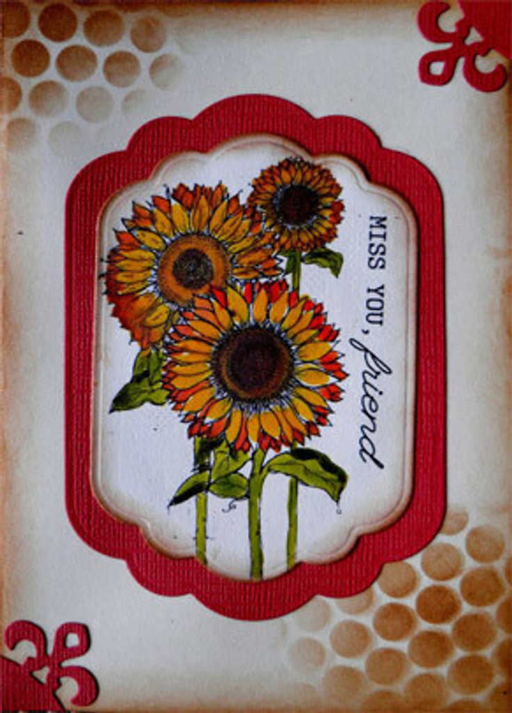 Sunflower Miss You Friend Unity Stamp Company