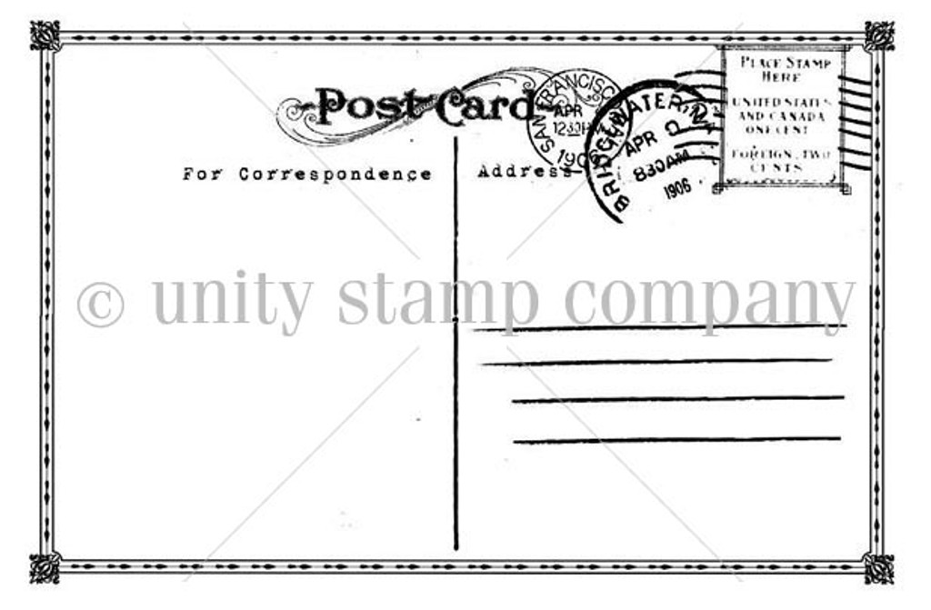 vintage postcard unity stamp company