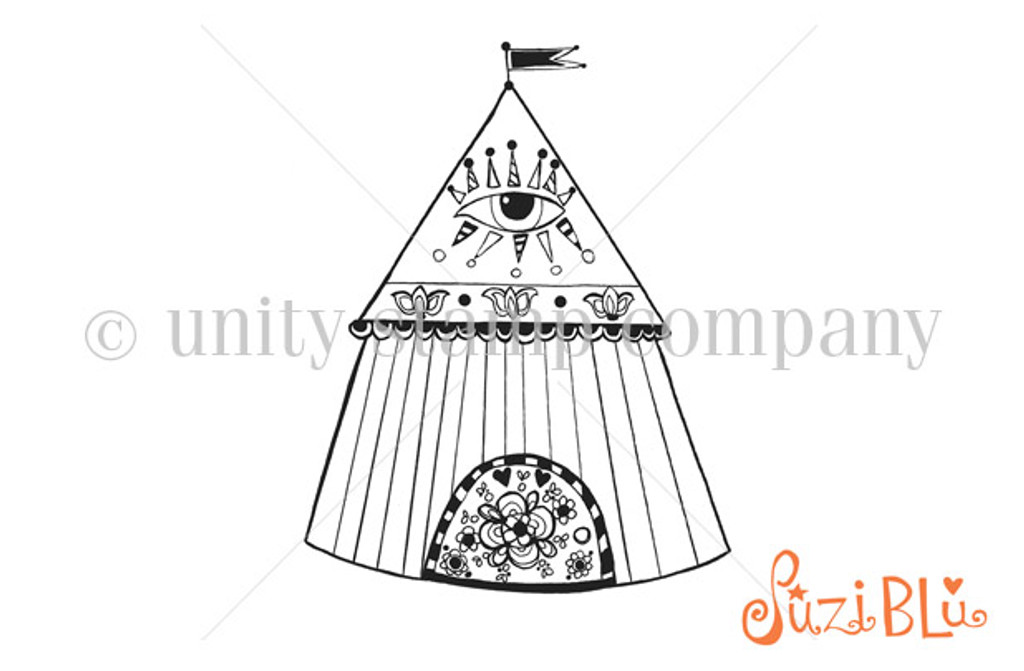 Gypsy Tent-Exclusive Stamp by Suzi Blu