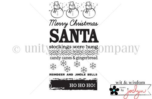 Santas, Stockings, Candy Canes, etc {wit & wisdom}