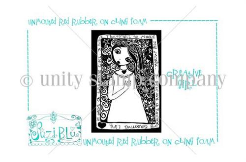 Creative Girl-Exclusive Stamp by Suzi Blu