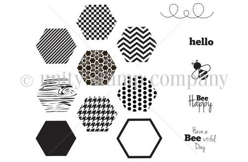 Bee Happy Hexagons
