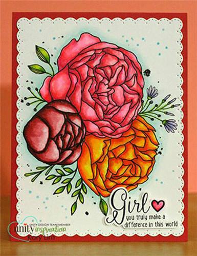 Girl Truly {April 2017 Sentiment Kit}