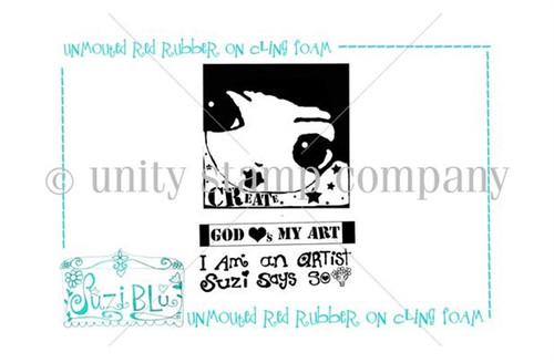 I am an Artist-Exclusive Stamp by Suzi Blu