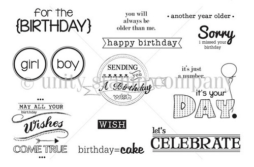 Birthday Jubilee {july 2013 sentiment kit}