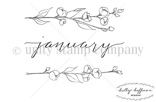 January Florals {Bullet Journaling}