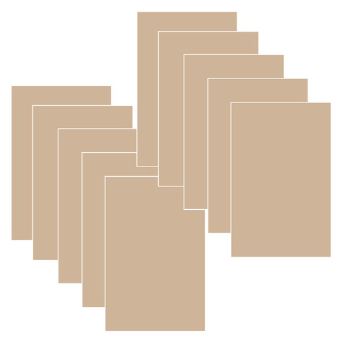 Short Cut Card Stock- Kraft