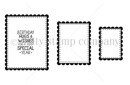 Rectangle Scalloped {border stamps}