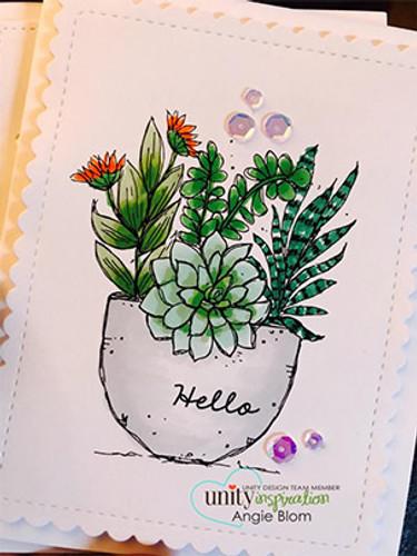 Succulent Greetings {uu 6/18}