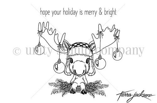 Merry Chrismoose Cuddlebug