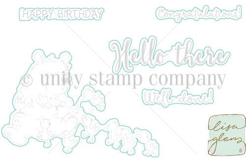 Hello There Bear- Digital Cut File