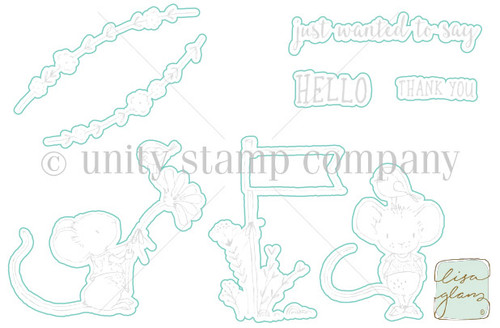 Country Mouse Hello- Digital Cut File