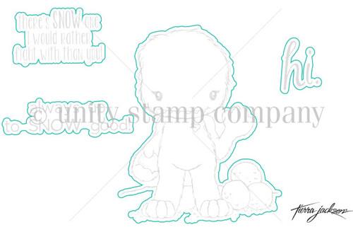 Abominable Cuddlebug- Digital Cut File