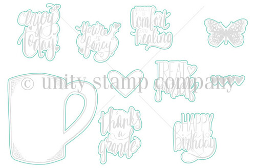 Cuppa Comfort {August 2017 Sentiment Kit} - Digital Cut File