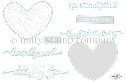 Wooden Heart- Digital Cut File