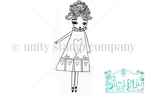 LaLaLa Girl-Exclusive Stamp by Suzi Blu