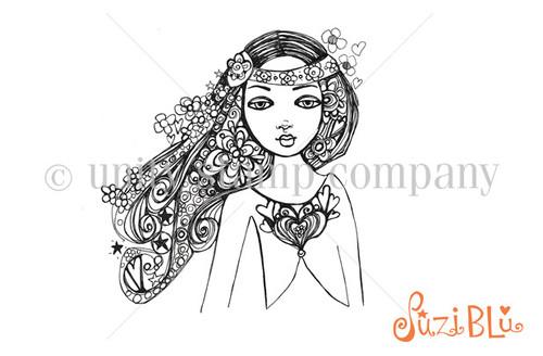 Gypsy Warrior-Exclusive Stamp by Suzi Blu