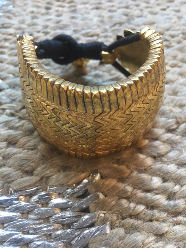 Bazuband Cuff - Black and Gold