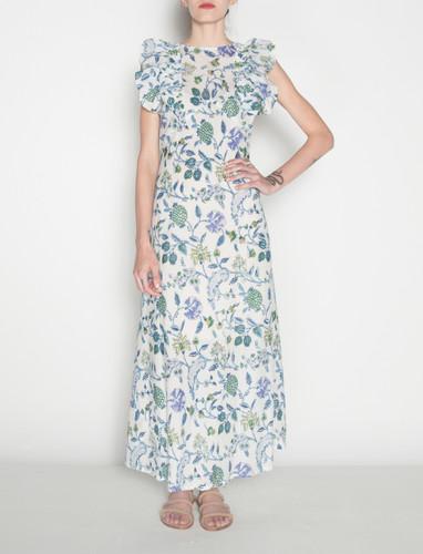 Deia Dress - Blue Flowers