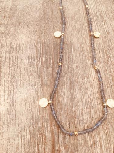 Necklace - Labradorite with Discs