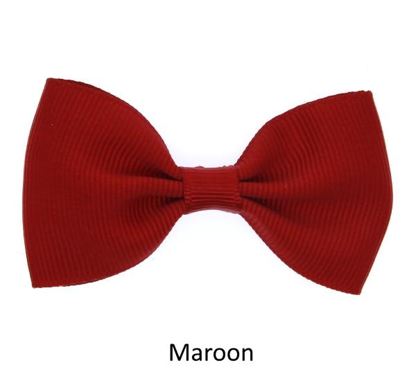 maroon baby girl hair clips mini bow