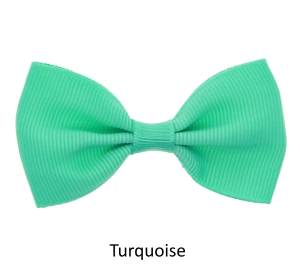 turquoise baby girl hair clips mini bow