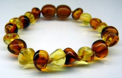 bi-color amber teething bracelets