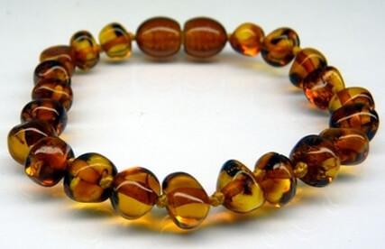 cognac amber teething bracelets