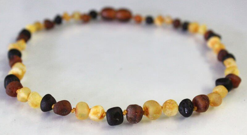 multi-scotch raw amber teething necklace